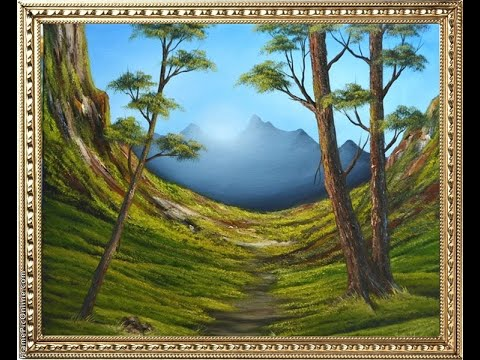 Рисование пейзажа C горами | Учимся рисовать горы | Как правильно нарисовать горы