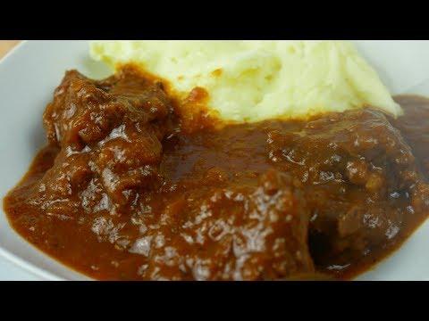 Receta E Gullashit Me Mish Vici/kau   Albanian Beef Goulash Recipe