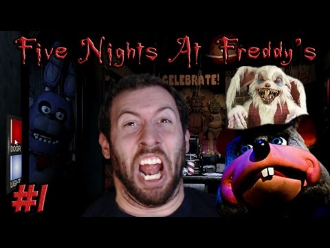 Five Nights At Freddy's Gameplay Part 1: Nights 1 and 2, I WILL SURVIVE!