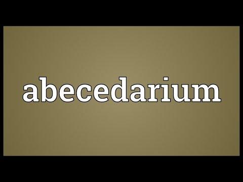 Header of abecedarium