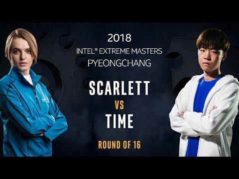 StarCraft II - Scarlett [Z] vs. TIME [T] - Ro16 - IEM PyeongChang [1/2]