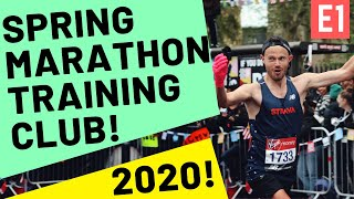 MARATHON TRAINING TO GET YOU A PB! Free £10 SPONSORSHIP! Spring Marathon Club 2020!