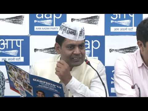 AAP New Delhi Loksabha candidate Brijesh Goyal  launched his constituency manifesto