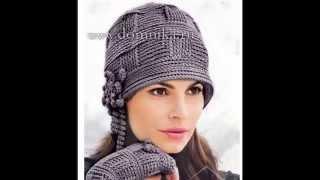 Вязаная шапка крючком  в стиле 20х.  Часть1. Crochet Hat