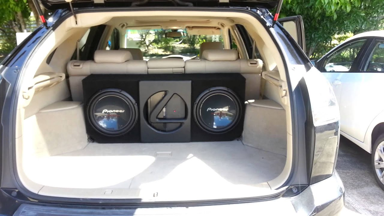 Lexus Rx350 Custom Subwoofer Box Youtube
