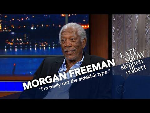 Morgan Freeman Is Stephen's Late Show Sidekick