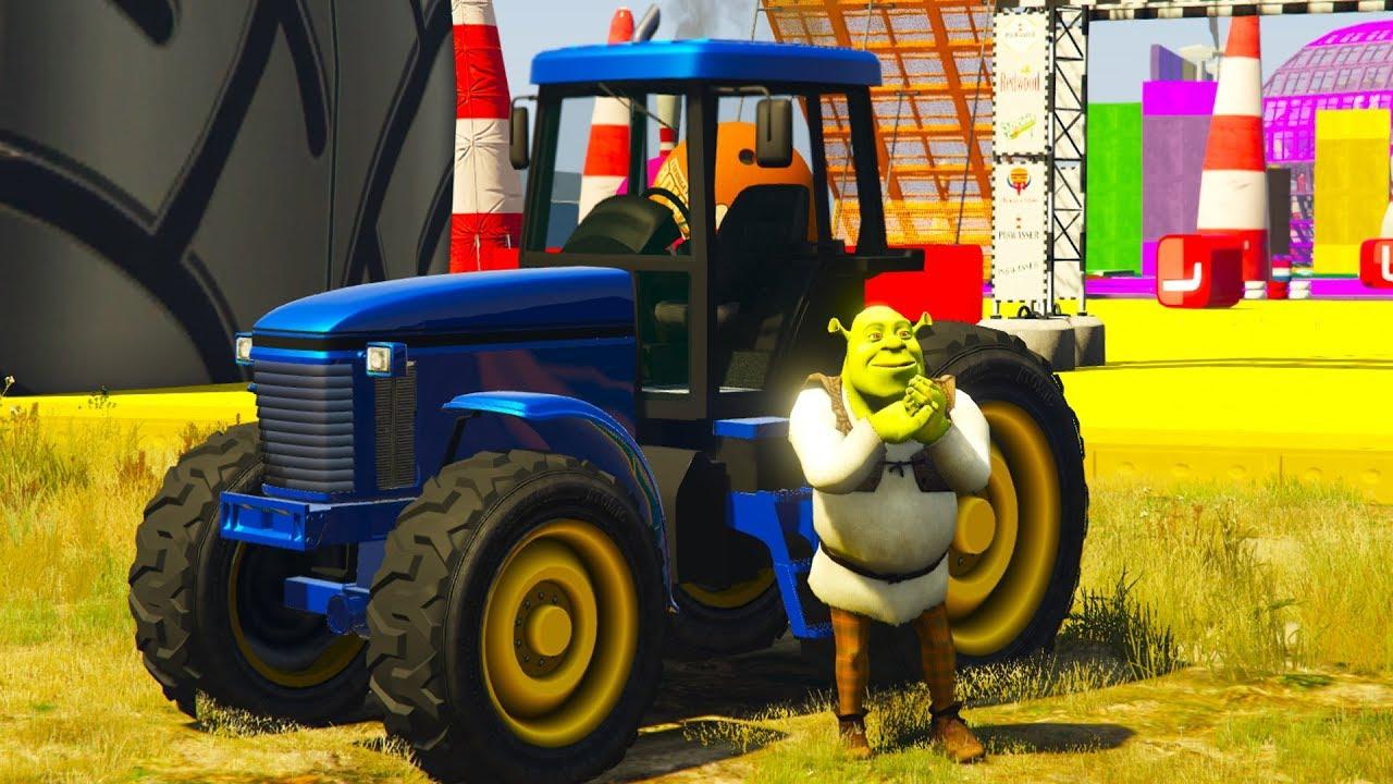 мультики для детей про #машинки синий трактор бульдозер ...