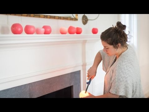 How to Make Luminaries with Balloons