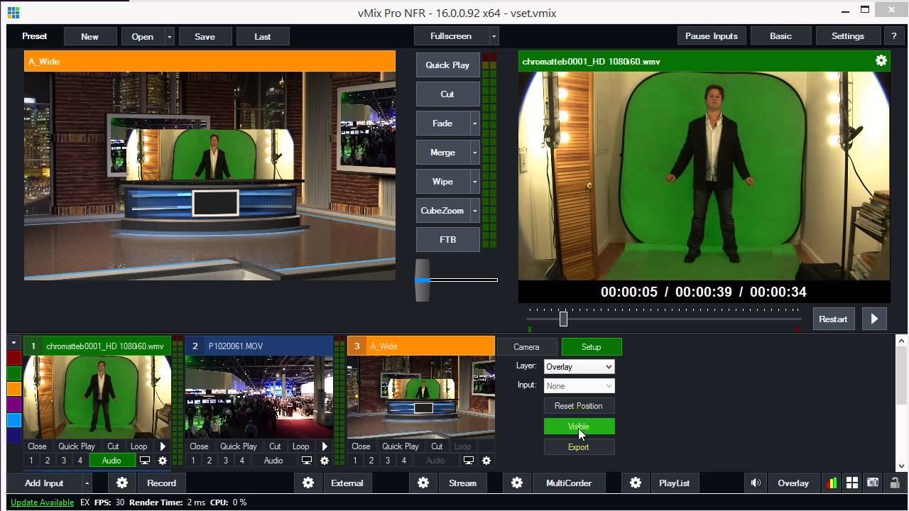 Virtualworks Virtual Sets in vMix