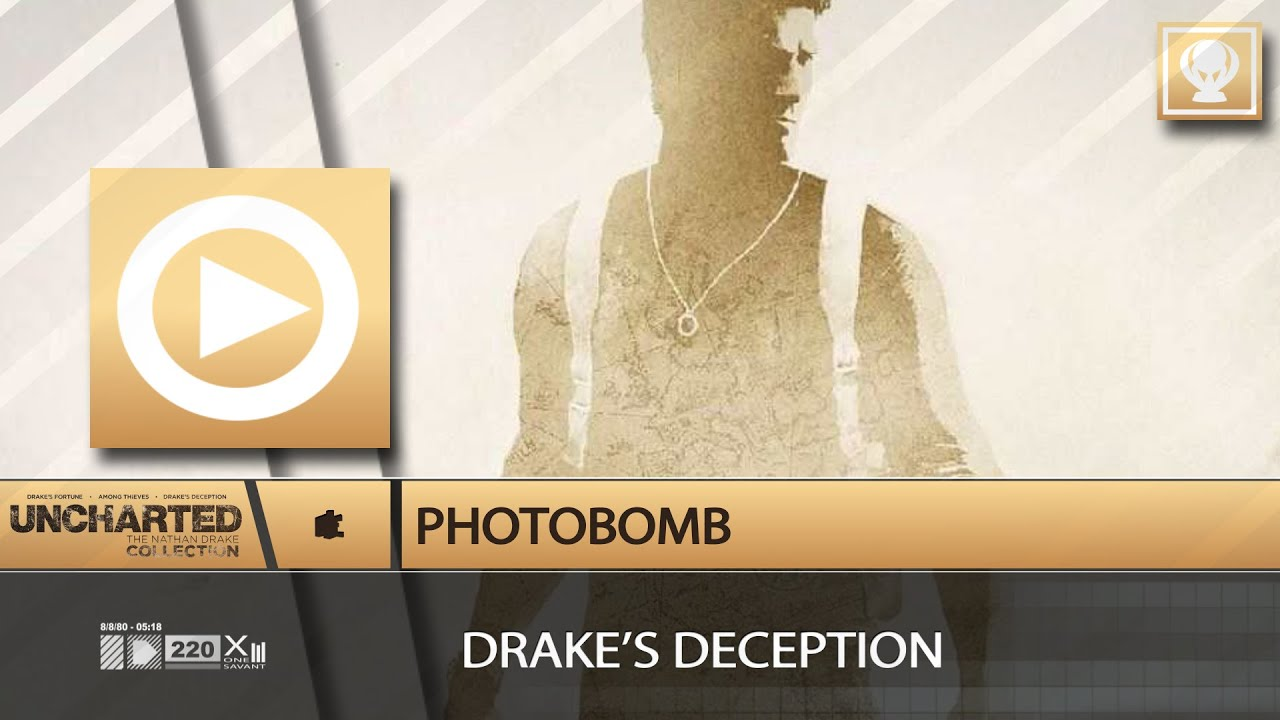 Photobomb Trophy Explore Photo Mode Uncharted 3 Drakes Deception Remastered Youtube