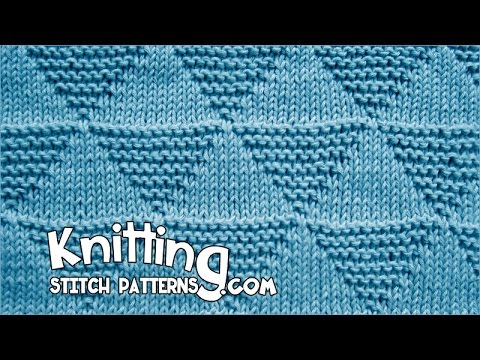 Stockinette And Garter Triangles Youtube