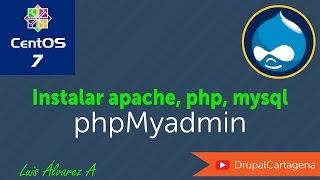 Centos 7: Instalar Apache, Maria DB(mysql), PHP, PhpMyAdmin