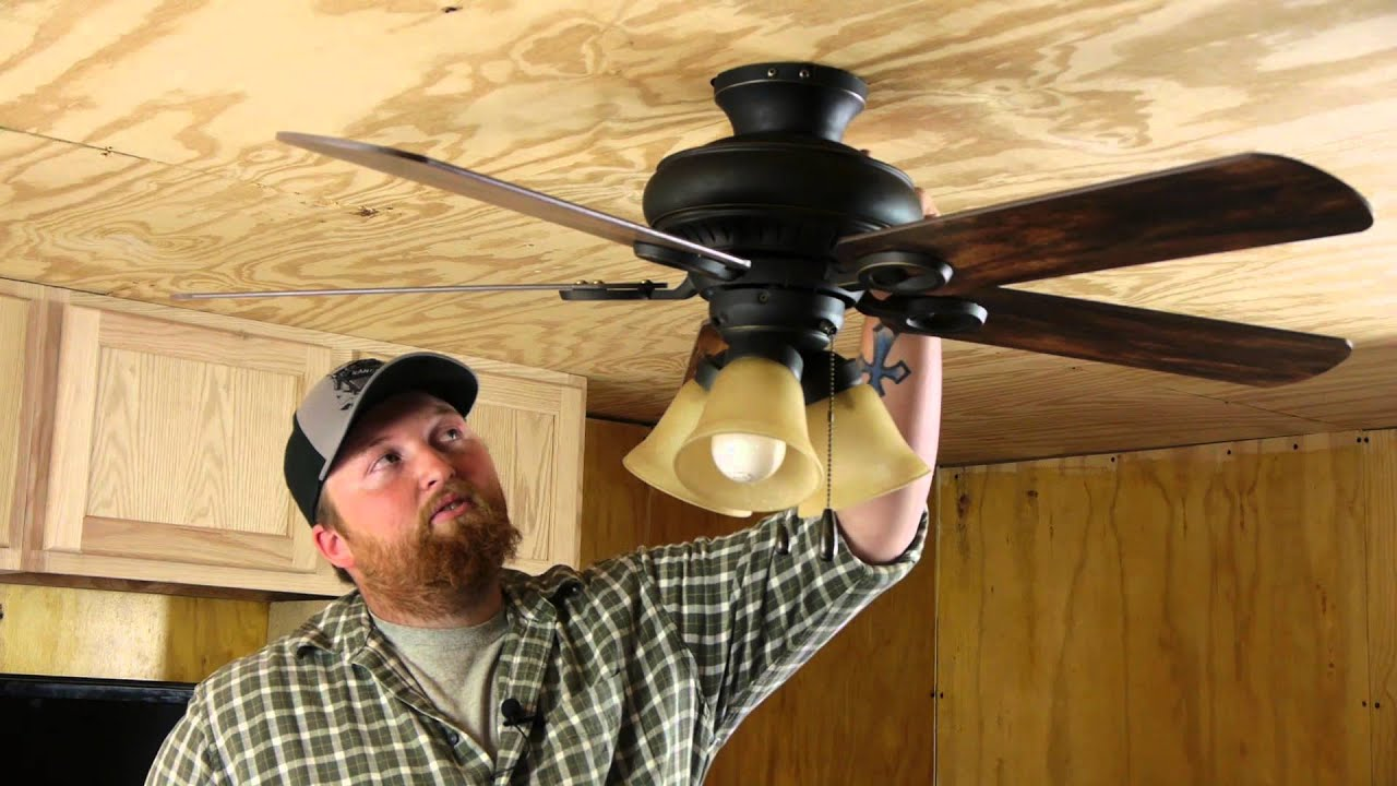 How to tighten a loose ceiling fan ceiling fan repair youtube aloadofball Images