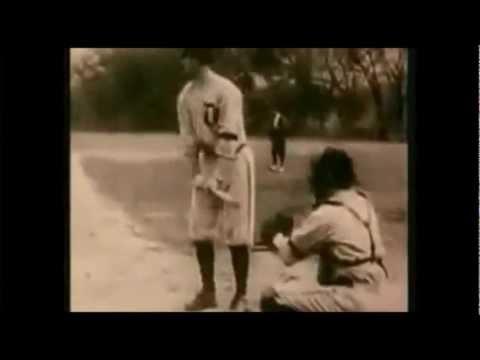 Rare Ty Cobb video- hitting, running, stealing, and swing
