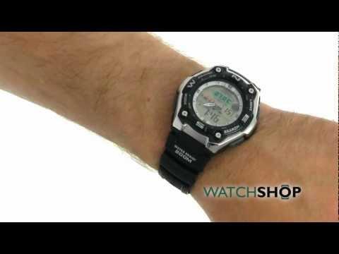 Men's Casio Sports Alarm Chronograph Watch (AQW-101-1AVER)