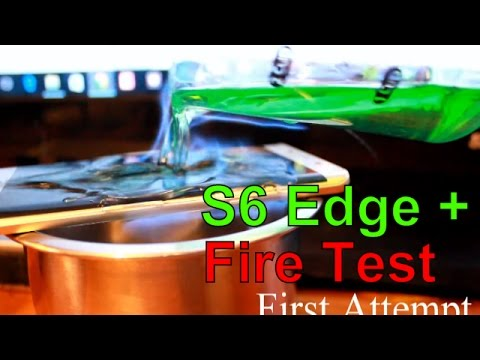 Setting Hand And The Samsung Galaxy S6 Edge Plus On Fire [ Failed ] - Durability Test | Get Fixed