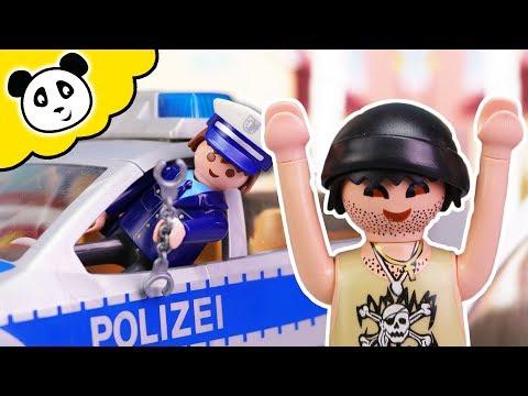 ⭕ PLAYMOBIL Polizei Film - KARLCHEN KNACK bricht aus! Pandido TV