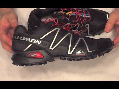 24b4591e4 Salomon SpeedCross 3 Men's Hiking Trail Running Outdoor and Gym Shoes in  Black - YouTube