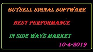 buy sell signal software 90% accuracy best performance in sideways market for Indian stock market.
