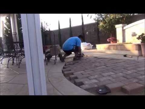 Lovely How I Installed Pavers In The Backyard   DIY Paving Stones   YouTube