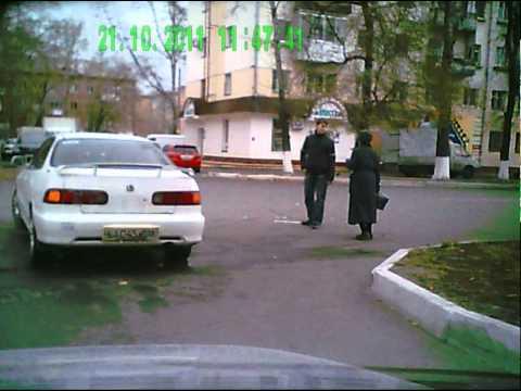 Абакан.ДТП.Хонда и Логан возле Ростелекома