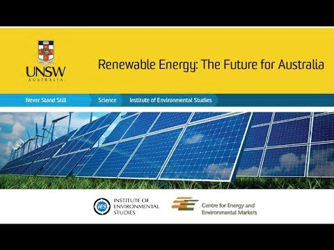 Renewable Energy-the Future for Australia