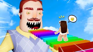 "when the neighbors are eating my Roblox help me Hello Neighbor!!! ""N.N.B CLUB [Obby. Da brother]"