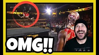 REACTION   YOU NEED TO SEE THIS!!! RICOCHET STUNS WWE NXT