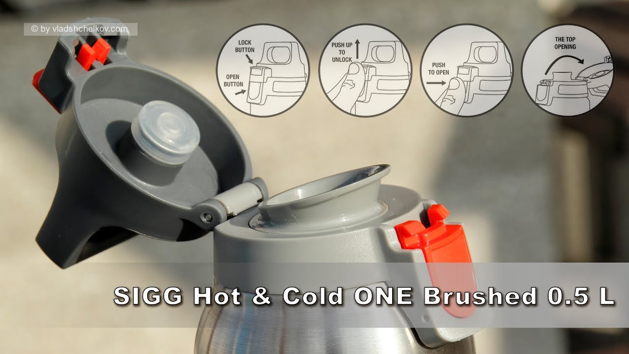 термос Sigg Hot Cold One Brushed 05 L Youtube