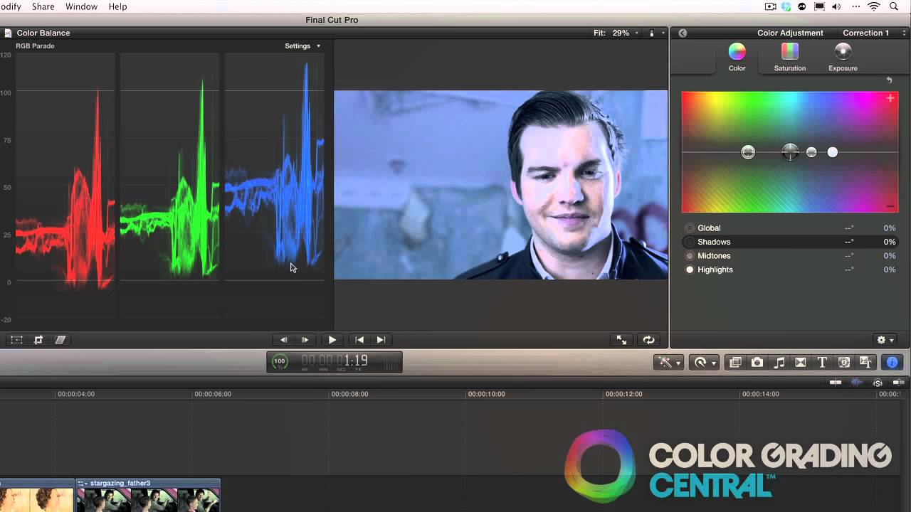 07  Final Cut Pro X Color Correction Tutorial: Color Balancing