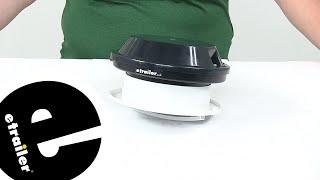 etrailer   Review of Ventline RV Roof Vent - Low-Profile Round Fan - VP-543SP