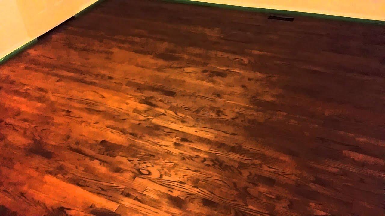 English Chestnut Minwax Hardwood Floor Stain Youtube