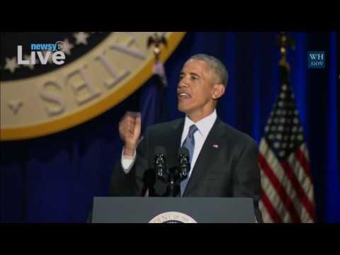 Newsy Live - President Obama's farewell address
