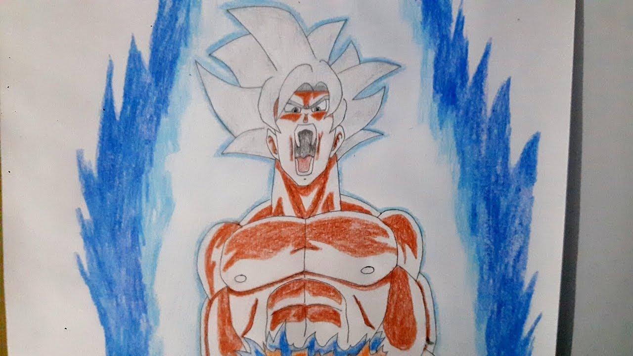Drawing goku ultra instinct mastered dragon ball super speed drawing time lapse youtube - Goku ultra instinct sketch ...