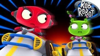 Dashing Car | Preschool Learning Videos | Rob The Robot