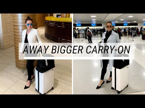 Away: The Bigger Carry-On in White   Review