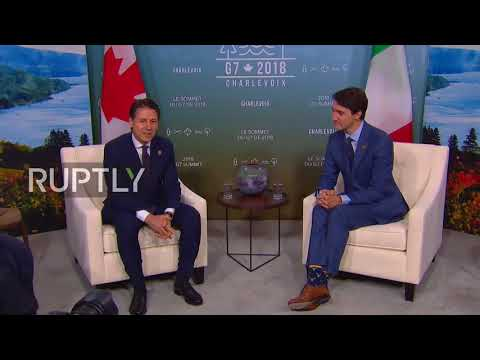 Canada: Trudeau welcomes Merkel, May and Abe ahead of G7 summit