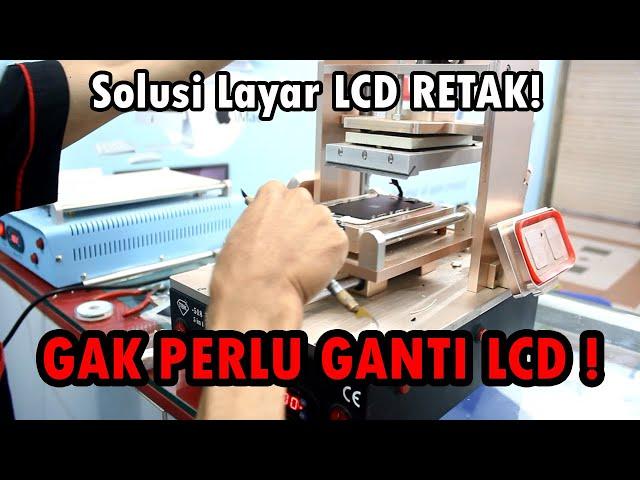 gak perlu ganti LCD ! cukup cuma ganti kaca