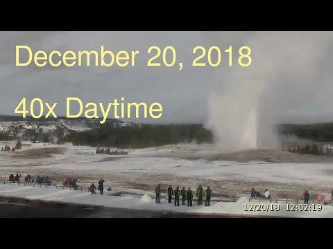 December 20, 2018 Upper Geyser Basin Daytime Streaming Camera Captures