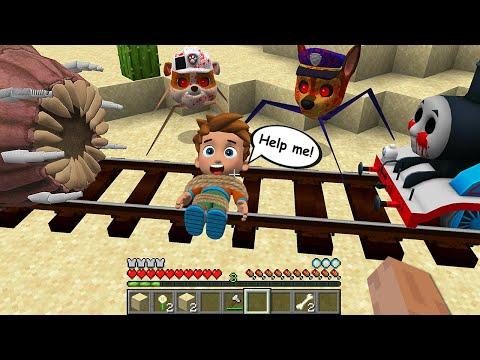 WORM & PAW PATROL.EXE vs PJ MASKS in Minecraft - Coffin Meme Thomas THE TANK ENGINE.EXE |