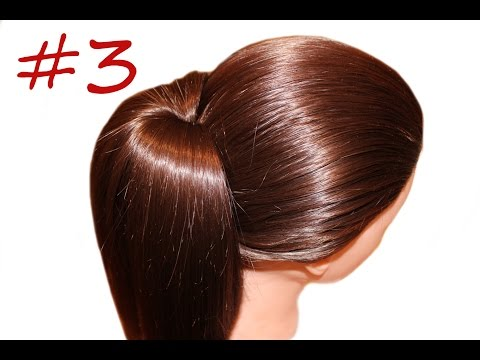 High ponytail ★video tutorial ★ The third way