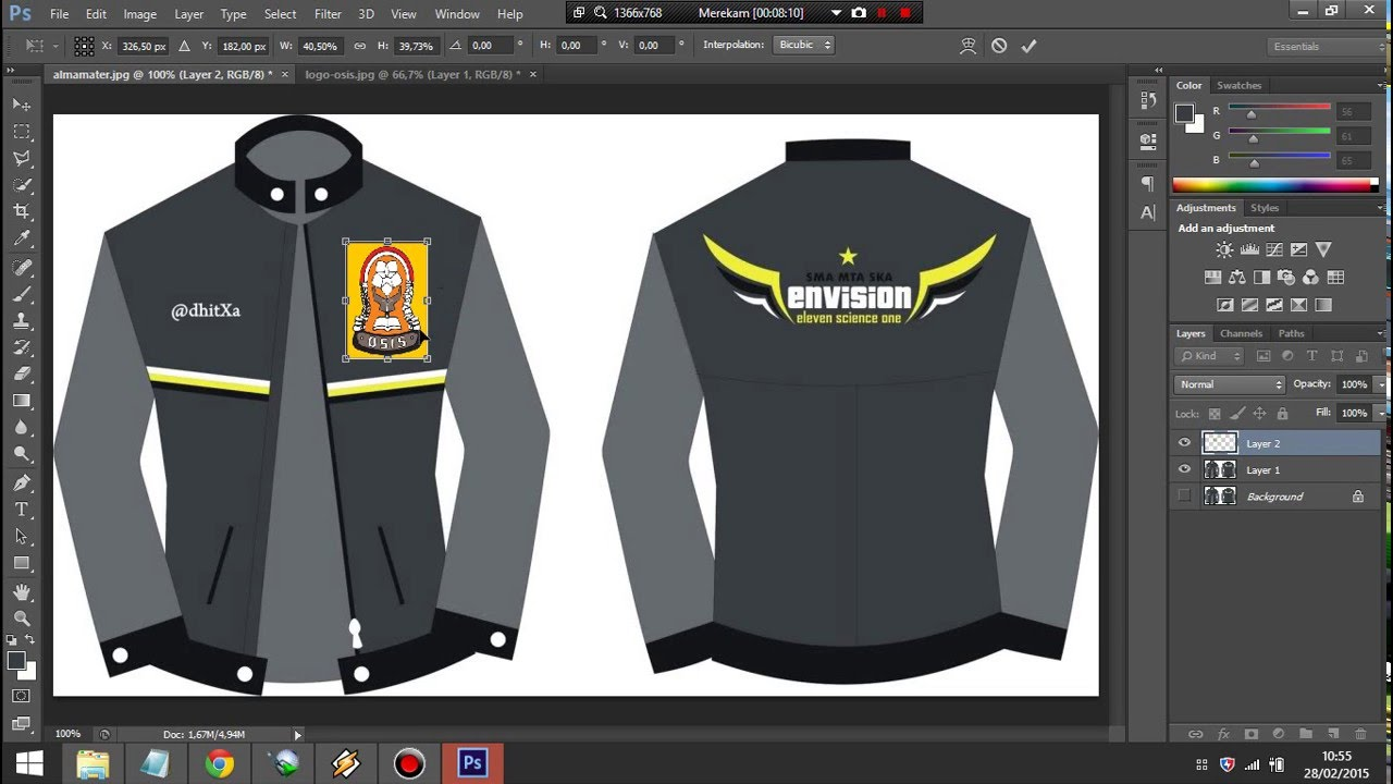 Tutorial Dasar Photoshop Buat Desain Jacket Youtube