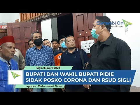 Bupati Pidie Roni Ahmad Alias Abusyik Sidak Posko Covid 19 Dan RSUD Sigli