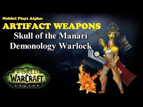 Skull of the Man'ari - Warlock Artifact - Legion Alpha [LORE SPOILERS]