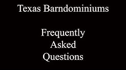 Barndominium Q&A #1 - Texas Barndominiums Episode 34
