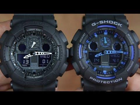 5495d04a963 CASIO G-SHOCK GA-100-1A1 VS G-SHOCK GA-100-1A2 - YouTube