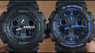 CASIO G-SHOCK GA-100-1A1 VS G-SHOCK GA-100-1A2