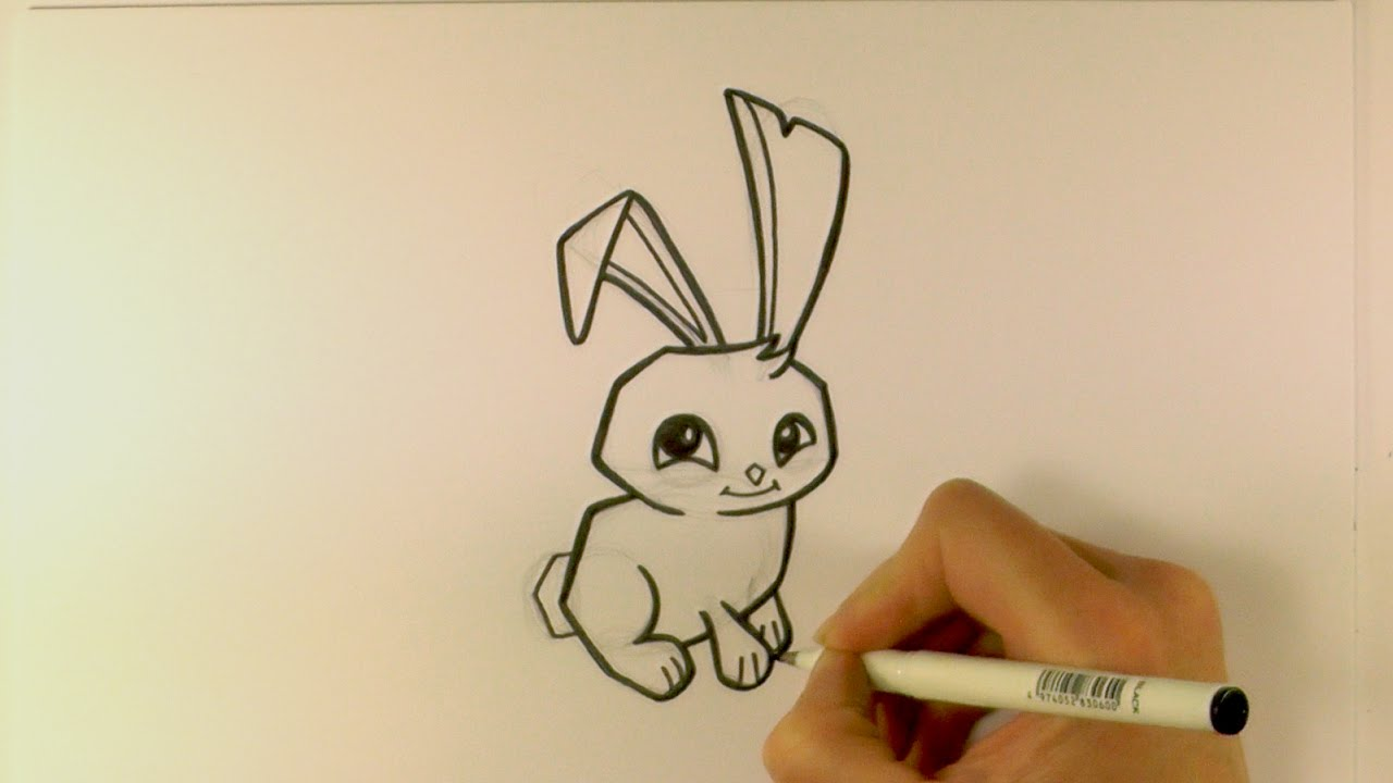 How To Draw A Cartoon Bunny From Animal Jam Zooshii Style Youtube