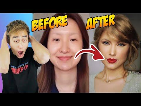 Chinese Taylor Swift Makeup Transformation PROVES Makeup Is a LIE (TIK TOK CHINA)