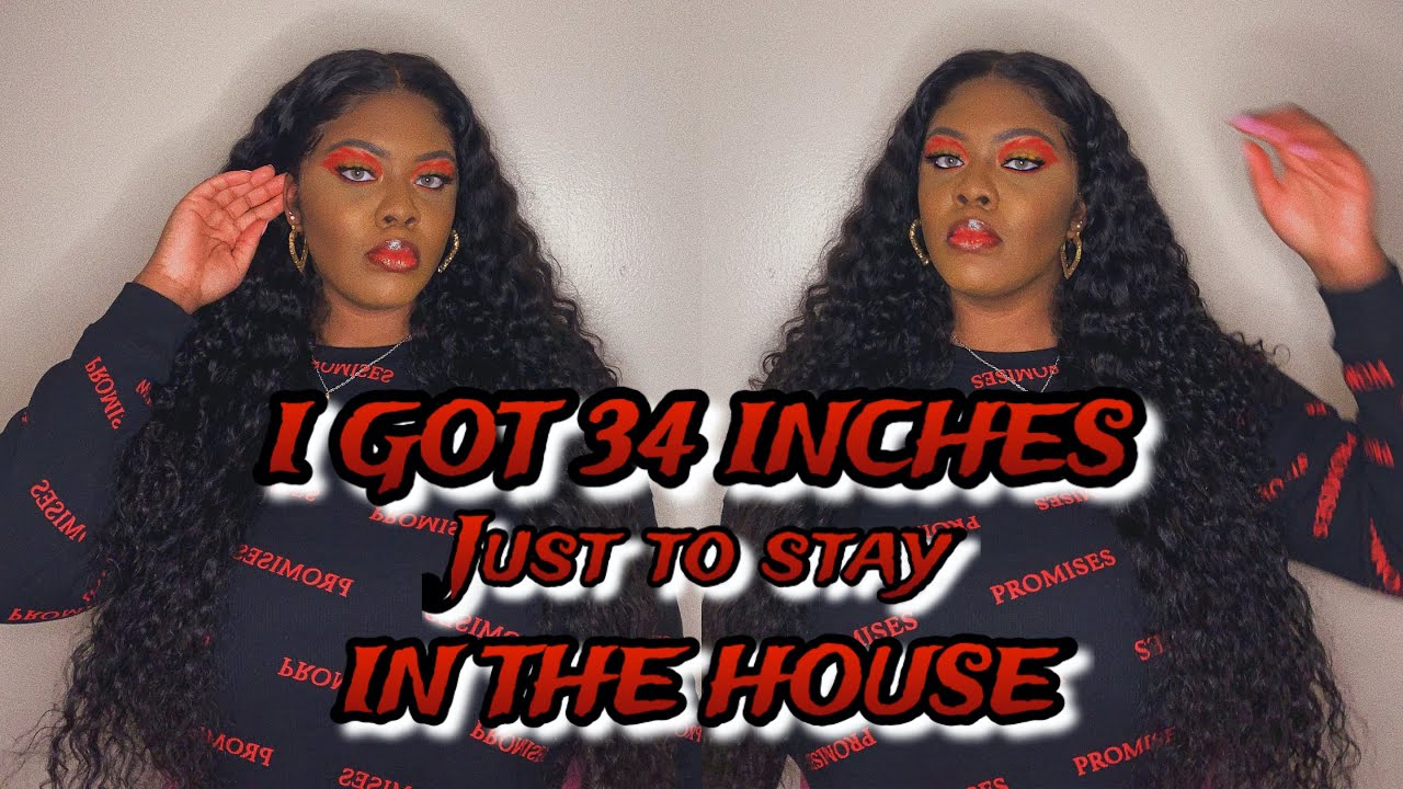 I GOT 34 INCHES JUST TO STAY IN THE HOUSE   YOLISSA HAIR REVIEW   THATQUEENBECC
